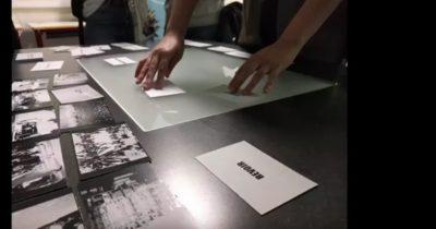 Ateliers de montage vidéo sur table « Mash-up » par l'association « Héliotrope » – Collège